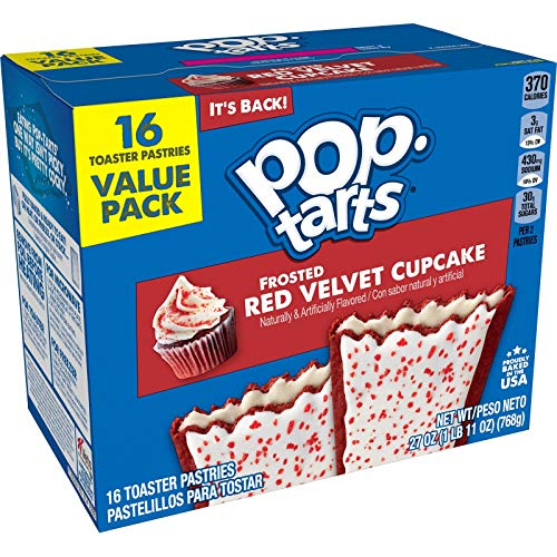 Pop-Tarts Frosted red velvet 16 ct ( 1 box )