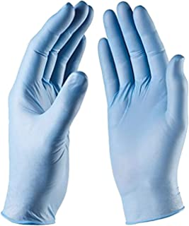 Nitrile Exam Gloves Powder Free Fingertip Textured Non Latex, Non Sterile, MagicTouch, Pack of 100 (Large)