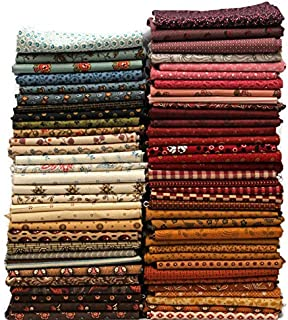 10 Fat Quarters - American Civil War Fat Quarter Bundle 1800's Reproduction Quality Quilters Cotton Fabrics M228.01