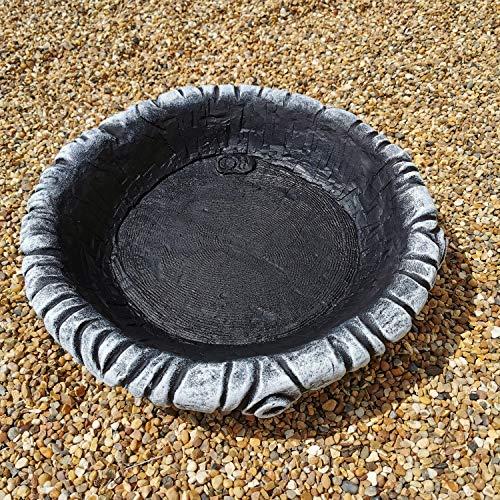 Garden Ornaments & Accessories Medium Round Log Effect Ground Bird Bath or...