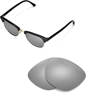 Walleva Replacement Lenses for Ray-Ban Clubmaster RB3016 49mm Sunglasses - Multiple Options