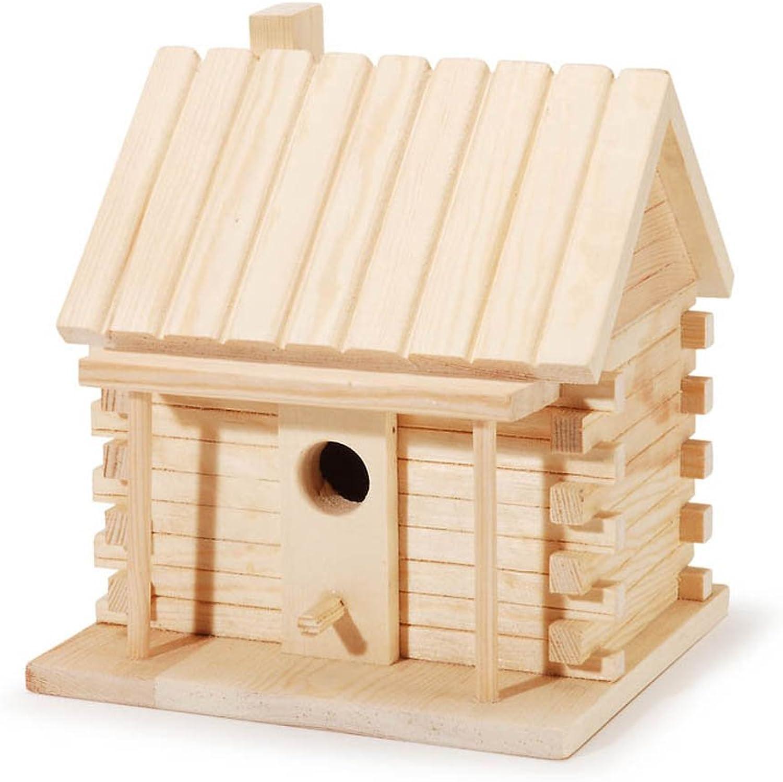 calidad oficial Darice 9184 9184 9184 91 Natural madera Log Cabin Casa para pájaros 7.1 , nuevo  bajo precio