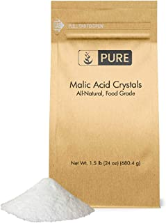 Malic Acid Powder (1.5 lbs, 600 mg per Serving) by Pure Organic Ingredients, Boost Energy Production*, Alpha Hydroxy Acid, Help with Muscle Pain & Soreness*, Rejuvenate Skin*