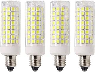 MD Lighting 10W E11 Mini Ceramic Corn Light Bulbs(4 Pack)- 102 LEDs 2835 SMD 1000lm Daylight White 6000K LED Corn JDE11 Lamp 70W Equivalent for Ceiling Fan, Sconce, Cabinet, Dimmable, 120V(No fit E12)