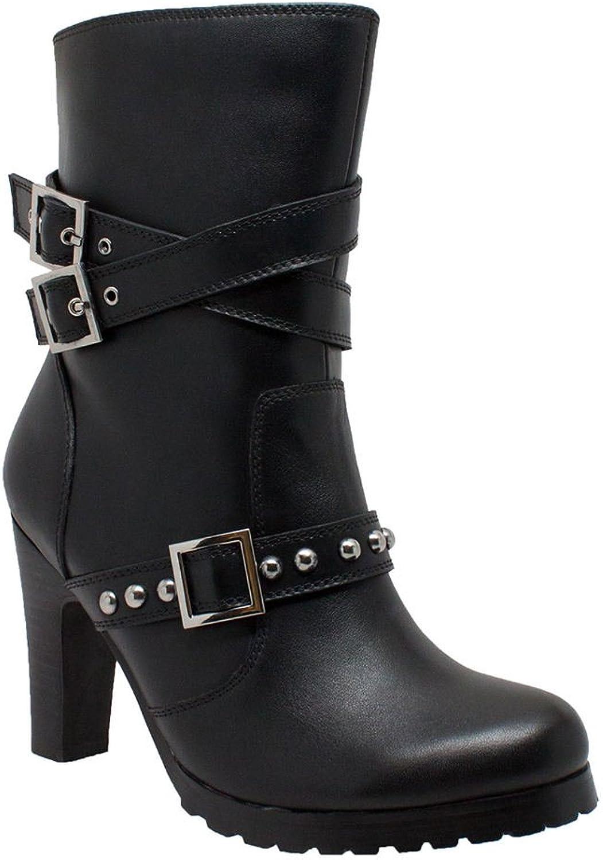 Adtec Women's 10  Three Buckle Boot Black Work Boot