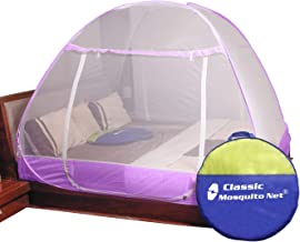 Classic Mosquito Net, Double Bed King Size, Premium Polyester Foldable - Purple