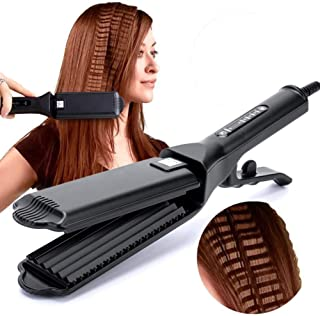 Corrugated Iron Hair Corrugation Anti-scald Hair Crimper Irons Fluffy Wave Iron Width Plate Styling Tools 110-220 V