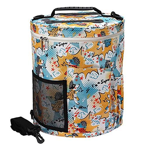 Organizador de bolsas de ganchillo, Cilindro organizador de almacenamiento de bolsas de hilo, Bolsa...