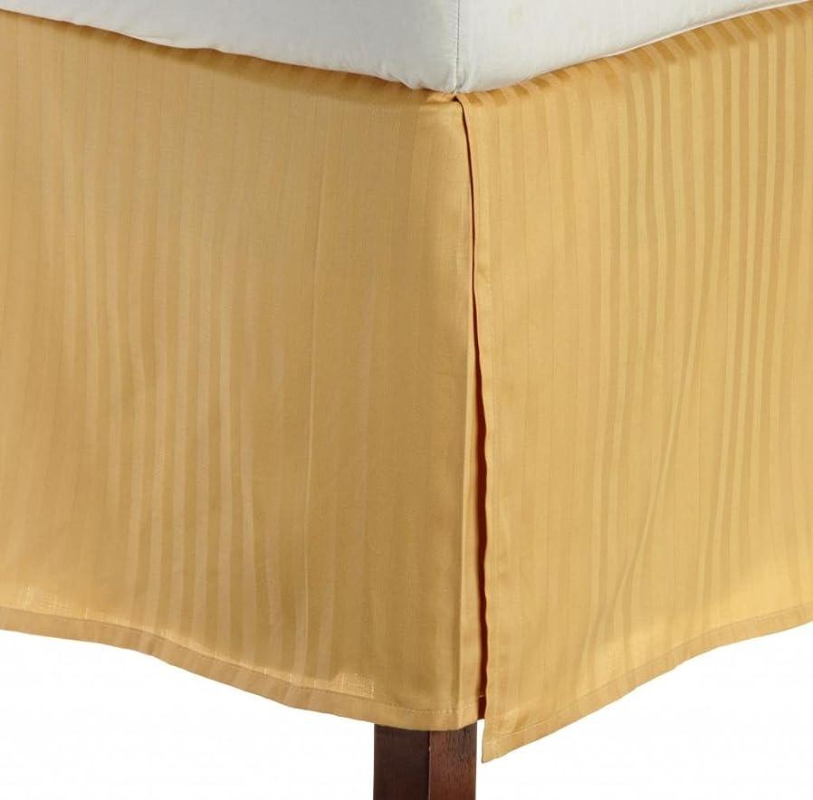 安息狂う役に立つ100?%エジプト綿新しいベッドスカート1?QTYカルサイズ72?x 84インチ& 28インチPktドロップゴールドストライプ