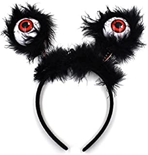 MIDAFON 6Pcs Eyeball Boppers LED Flashing Eyes Halloween Hairband Costume Accessories Party Supplies Party Favors for Kids