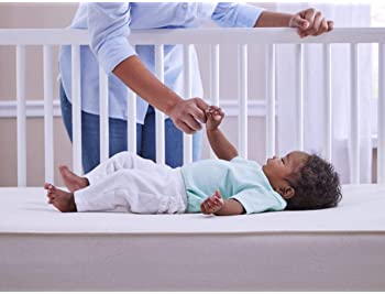 Sealy Baby Firm Rest Antibacterial Waterproof Standard Toddler & Baby Crib Mattress - 204 Premium Coils, Healthy Clea...