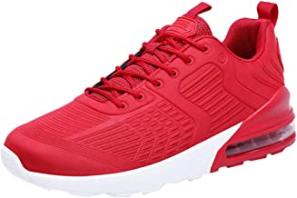 LILICHIC Men's Sneakers Woven Breathable Cushion Sneakers Outdoor Ultra Light Casual Running Shoes