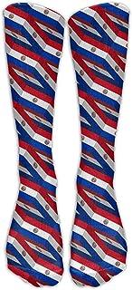 Paraguay Flag 3D Art Pattern Calcetines de compresión Calcetines de fútbol Calcetines altos Calcetines largos para correr