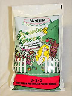 Medina Growin Green Granular Organic Fertilizer 4-2-3 3000 Sq. Ft. Granules 40 Lb.