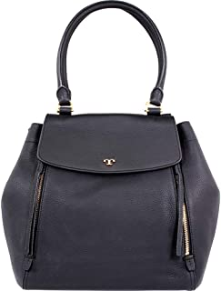 Tory Burch Women'S Half-Moon Tote Leather Top-Handle Bag - Black (46335-001)