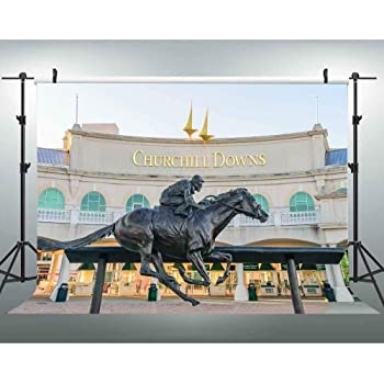 Little Lucky 10x6.5ft Race Track Photography Backdrop Kentucky Derby Photo Background for Horse Race Racecourse Party Shoot Studio Prop