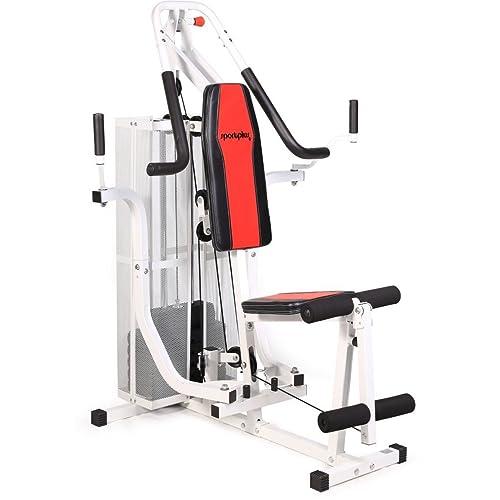 SportPlus - Appareil de Musculation Home Gym - Presse pour Pectoraux,  Butterfly, Poulie 2b2fdeb8d0cf