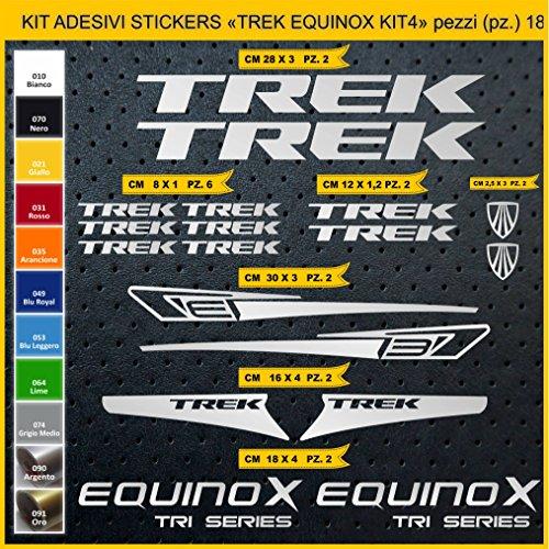 Adesivi Bici Trek Equinox_Kit 4_ Kit Adesivi Stickers 18 Pezzi -Scegli SUBITO Colore- Bike Cycle pegatina cod.0899 (090 Argento)
