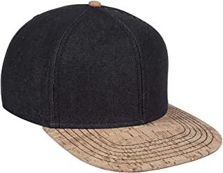 Product of Ottocap Melton Wool Blend Flannel Square Flat Visor, Six Panel Pro Style Snapback Hat -Cork/Blk [Wholesale Price on Bulk]