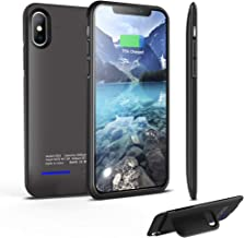 Battery case for iPhone X XS 10, 4000mAh Protable Protective Charging Case, Rechargeable External Battery Power Charger Case Compatible with iPhone iPhone X XS 10(5.8 inch) (Black)