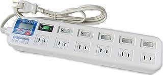 消費電力メーター付 6個口テーブルタップ 安心の国内製造品 JH-M506W