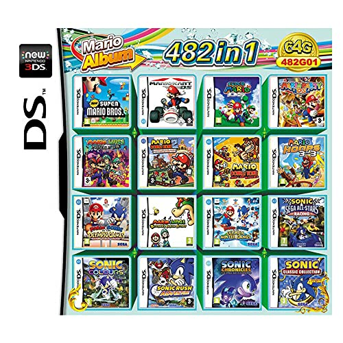 482 Spiele in 1 NDS Game Pack-Karte Super Combo Multi-Cartridge für DS NDS NDSL NDSi 3DS LL/XL