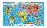 APRENDIENDO CON DIVERSIÓN: ¡Vamos a dar la vuelta al mundo en 92 imanes! Diviértete poniendo cada país en su lugar, obtendrás un hermoso mapa del mundo que podrás colgar en la pared. Una forma divertida y educativa de descubrir el planeta y aprender ...