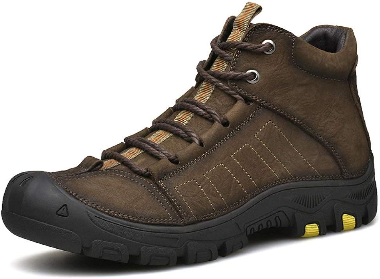 Skor Skor Skor från HWG -GAOYZ Människa skor Martin stövlar Ankle Footwear Winter Retro Läther Warm Bomull utomhus High -top Plus sammet Anti -Skid, bspringaaa -42  bra rykte