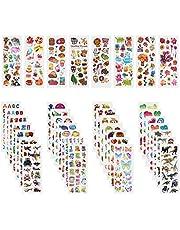 Annhao Pegatinas para Niños, 1000+ Pegatinas 3D Puffy Stickers para Regalos Gratificantes Scrapbooking Que Incluye Camiones, Aviones, Animales, Peces, Dinosaurios,Números,Frutas,Letras y Más(40 Hojas)