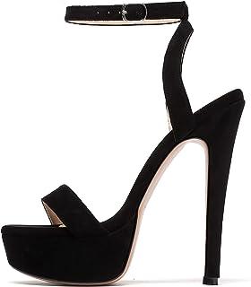Women's Open Toe Platform High Heeled Sandals Stiletto Dress Shoes