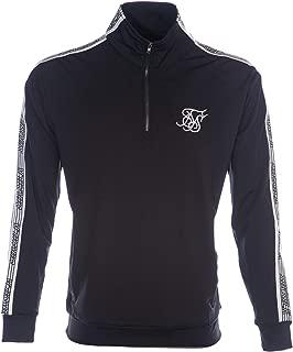 Sik Silk Quarter Zip Runner Top Black