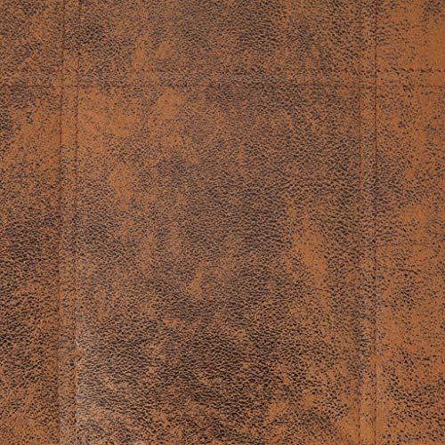 vidaXL Méridienne avec coussin de massage - Fauteuil de relaxation - Fauteuil de relaxation - Chaise longue confortable - Marron aspect daim
