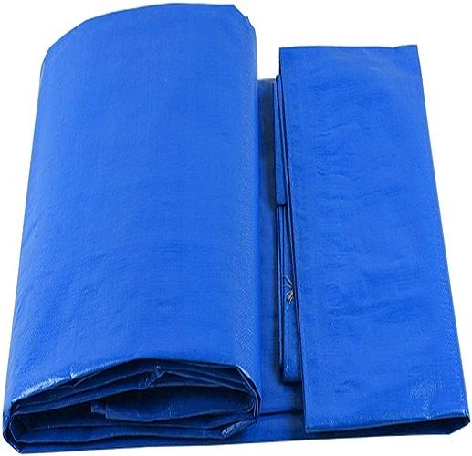 ALLIWEI Toile imperméable de Prougeection Solaire Toile en Plastique de Tissu à Haute densité Isolant tissé de Parasol Voiture Anti-poussière Camping Pique-Nique Tampon d'humidité Bleu Blanc bache PE
