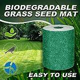Biodegradable Grass Seed Mat Roll - Fertilizer Lawn Planting Mat - Help Plant Growth and Germination Mat - Heat Insulation Moisturizing Shade Garden Lawn Erosion Control Grass Blanket