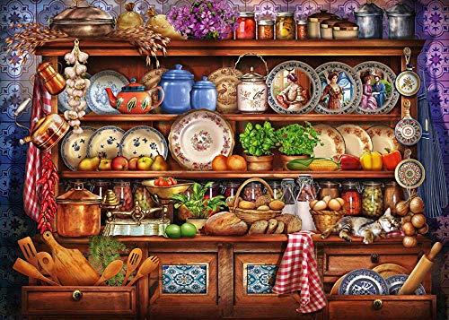 Puzzels 1000 stuk voor volwassenen Kinderen Keukenkast Schilderen Houten cadeaus voor kinderen Puzzel Decompressie Decoupeerzagen