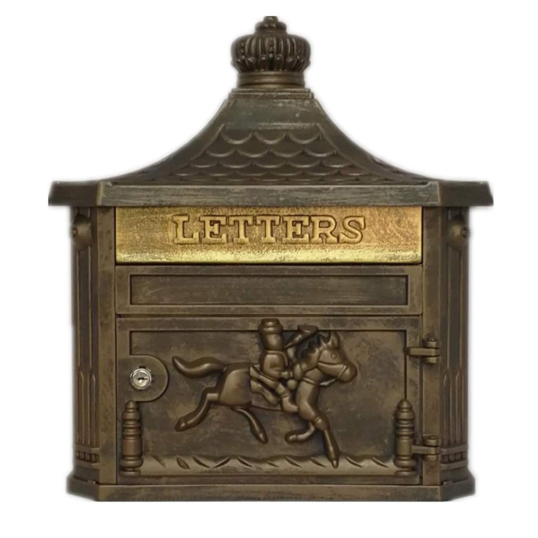 Jiu Si- メールボックス - 亜鉛メッキシート、レトロな創造的なヨーロッパの家の屋外の壁に取り付けられた防雨メールボックス、別荘、中庭に適して - 6色利用可能 メールボックス (色 : A)