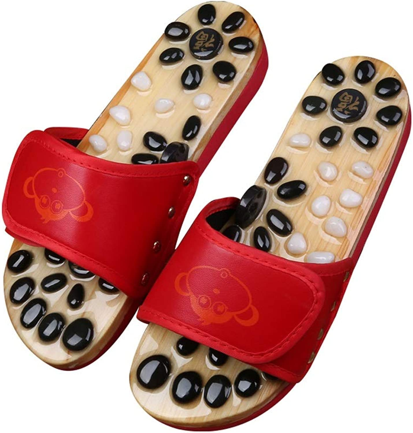 Xiao Jian Home Pebbles Foot Massage Slippers Acupressure Pedicure shoes Couple Bathroom Slip Indoor Sandals and Slippers Men and Women Summer flip Flop (color   C37-38)
