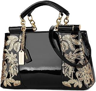 Nevenka Damen Kleine umhängetasche, Crossbody Bag aus PU Leder, Große Damen Schultertasche Handtasche mit Reißverschluss, ...