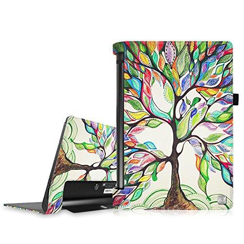 Fintie Lenovo Yoga Tablet 3 10 Hülle (Nicht für Lenovo Yoga Tab 3 Plus/Pro geeignet) - Folio Premium Kunstleder Schutzhülle mit Auto Sleep/Wake für Lenovo Yoga Tablet 3 10,1