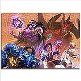 Kinder-Erwachsenen-Puzzle Blizzard Carnival Hearthstone und Heroes of the Storm 52x38cm hölzernes 1000-teiliges Eltern-Kind-Spiel zur Verbesserung des Denkens und des logischen Geburtstagsgeschenks