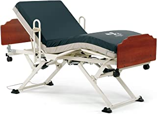 Invacare Carroll CS3 Hi-Low Hospital Bed Set w/Bed Sore Prevention Mattress and Half Rails