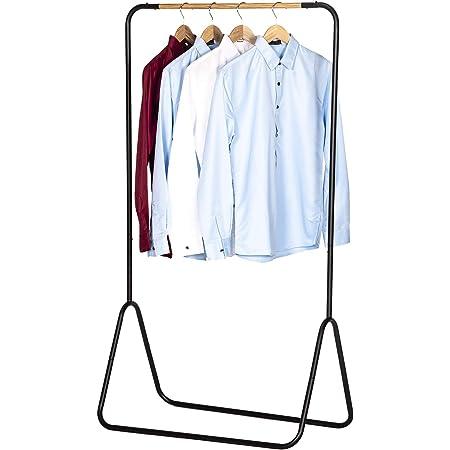 WOLTU SR0076sz Portant à vêtements en Fer,Porte-vêtements portemanteau environ 79x43x145cm,Noir