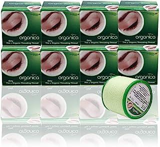 8 bobinas de hilo de algodón orgánico Vardhaman Organica para cejas de 300 m