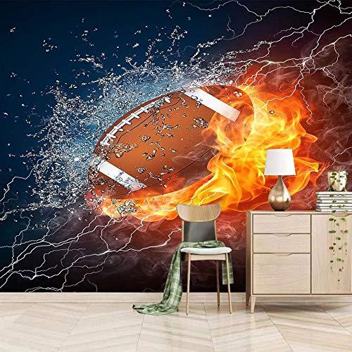 ZLLPRETTY Fototapete Tapeten 3D 150X100cm Wasser- und Feuersport-Rugby Tapete Fototapeten Xxl Tapeten Vliestapete Wandtapete Moderne Wandbild Wand Schlafzimmer Büro Flur