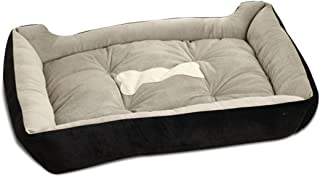 PETCUTE Luxury Cat and Dog Bed with Faux Sheepskin Lining, Fully Washable, 6Sizes, Cat Bed, Pet Beds Black