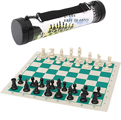 Anddod 43  43cm de plein air voyage TournaHommest Taille Chess Game Set Plastic Pieces vert Roll portable Family Game