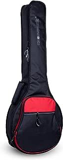 Crossrock CRSG106BJBR Padded Gig Bag for Open Back & Resonator Banjos, Backpack Straps, Black/Red