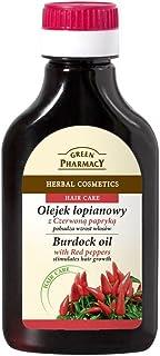 Elfa Pharm Natural Burdock-Root Oil with Red Peppers for Hair & Scalp Stimulates Hair Growth, 3.38 Fluid Ounce