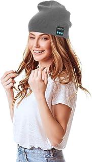 SANWOOD Men Women Upgraded Wireless Bluetooth 5.0 Headphones Beanie Hat Unisex Winter Soft Warm Running Music Cap with Ste...