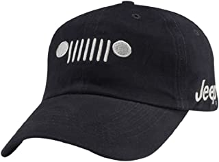 Jeep Grill Cotton Twill Cap, Navy, Adjustable